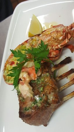 Welsh rack of lamb and local lobster garlic butter mm the-seahorse.co.uk Don chef