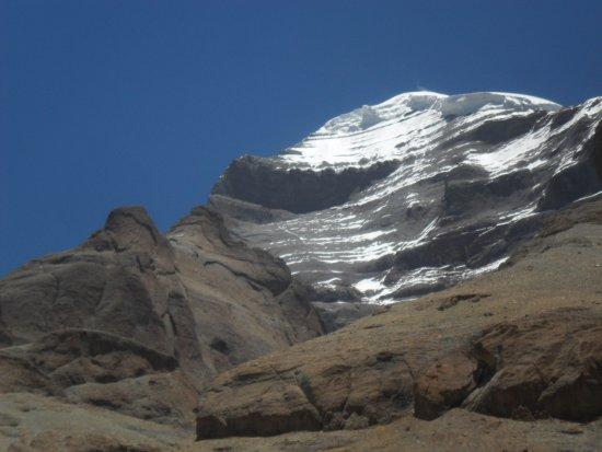 West face of the mountain picture of lake manasarovar burang county tripadvisor - Kailash mansarovar om ...