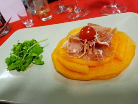 Cestas, France : Melon et son jambon