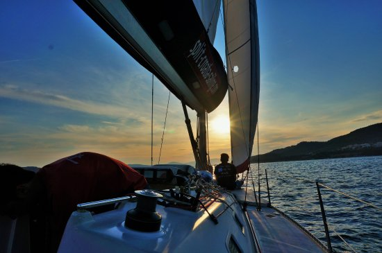 Dalmazia, Croazia: Sunset sail June 8, 2016