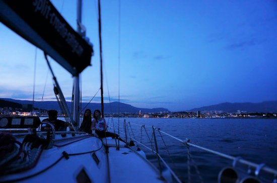 Δαλματία, Κροατία: Perfect day for a sunset sail, thank you Glorian and Damian for a wonderful experience.