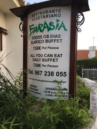 Eurasia : Unfortunately only open for lunch...