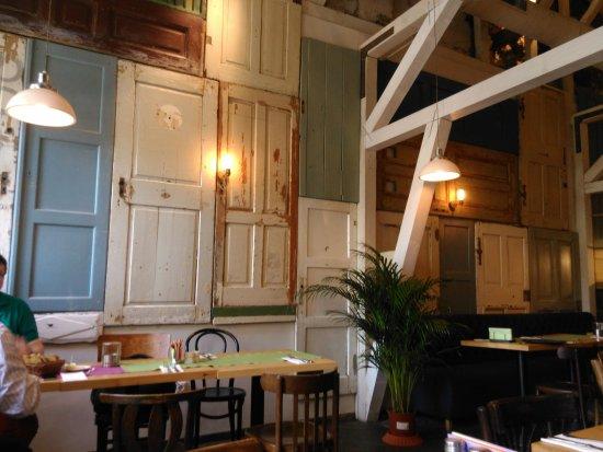 Aubergine Restaurant Wall Of Doors