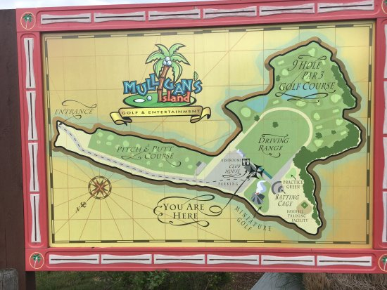 Mulligan's Island Golf & Entertainment: An island map to plan your adventure