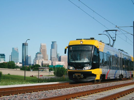 The METRO Blue Line offers convenient travel from Bloomington to downtown Saint Paul and Minneap