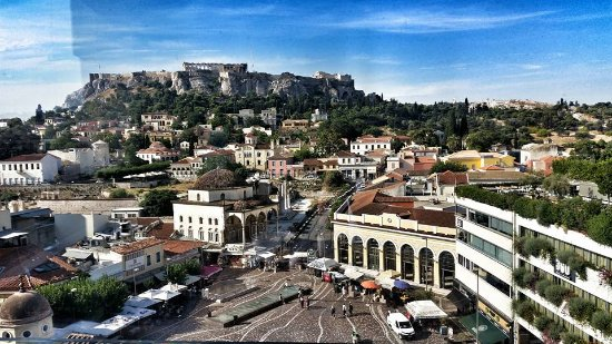 A for Athens: View from the rooftop terrace/bar