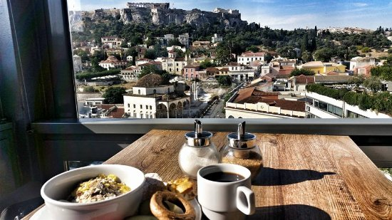 A for Athens: Breakfast with a view