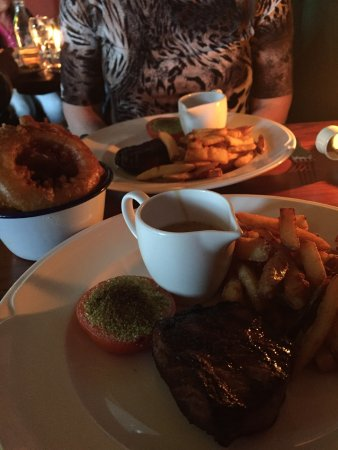 Crathorne, UK: Great steak