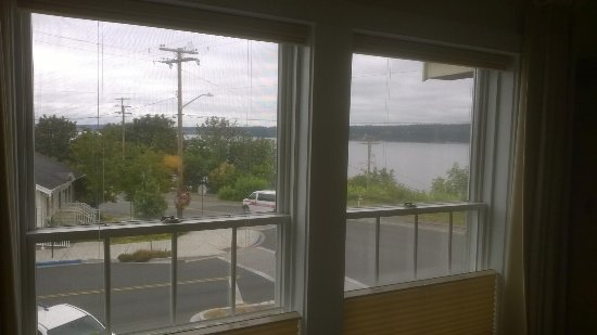 Saratoga Inn : View of Saratoga Passage and Langley from room.
