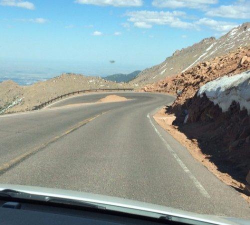 Pikes Peak In Colorado Springs: Pike's Peak Above Crystal Lake (About Half-Way Up To