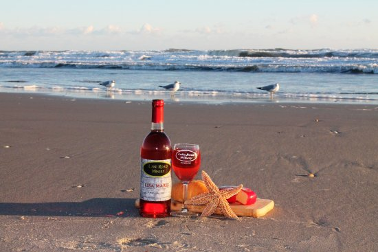 Newport, Carolina del Norte: Grab a bottle of our wine for the beach!