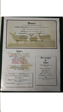 Robert S Restaurant Dinner Menu