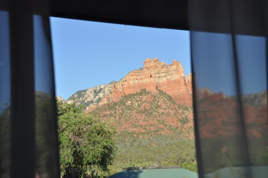 View from our room at the Sedona Motel