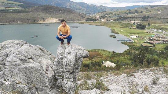 Huamachuco, เปรู: Laguna de Sausacocha, Vista desde la Tortuga (Mirador)