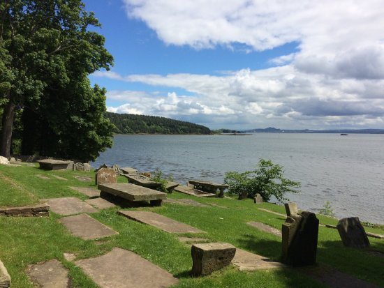 Fife, UK: View of Inchcolm Island and Firth of Forth