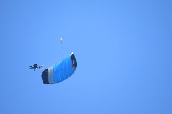 Marstons Mills, MA: My daughter doing a spiralling skydive with Skydive Barnstable at the Cape.