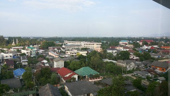 Narathiwat, Таиланд: View of town from the top floor