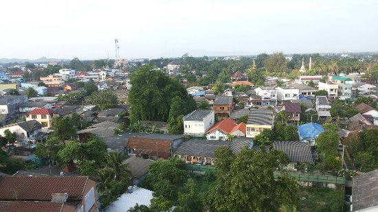 Narathiwat, Thailandia: View of town from the top floor