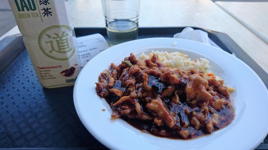 Tao Budapest: Budapest - Tao Restaurant - Green tea and mixed chicken meat