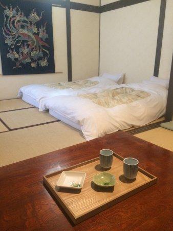 Rickshaw Inn: Japanese style room with private bath.