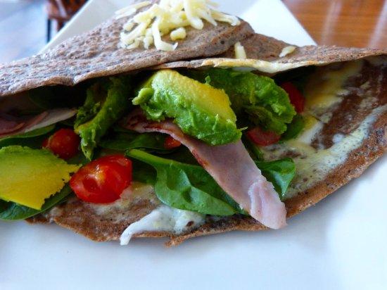 Homeport Eatery: Breakfast buckwheat crepe with added avocado