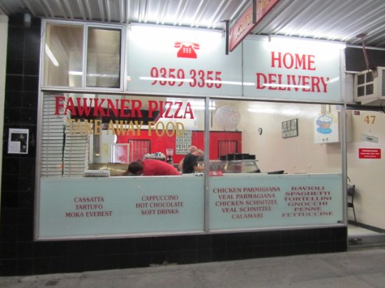 Fawkner Pizza was established in 1975 and still is the home of traditional pizza