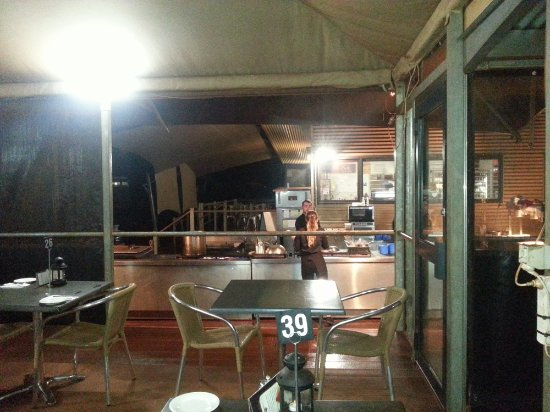 Open Air Kitchen From Restaurant Cold And Miserable When