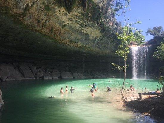 Amazing picture of hamilton pool preserve dripping for Pool design hamilton