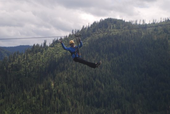 Silver Streak Zipline Tours : High above the trees and waving to the world