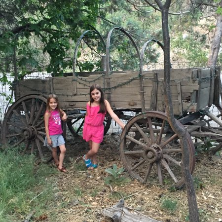 Pinos Altos, NM: One of the many old wagons on the property