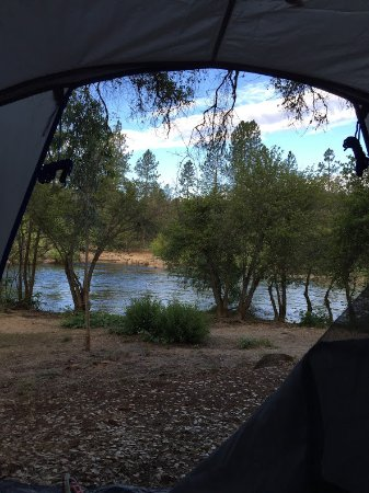 Lotus, CA: Morning view from tent