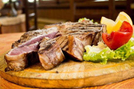Hotel Tre Stelle: ristorante  bistecca fiorentina