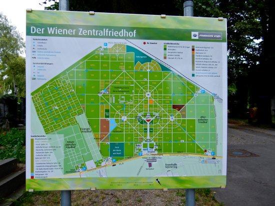 Plan cimetière - Photo de Cimetière central, Vienne ...