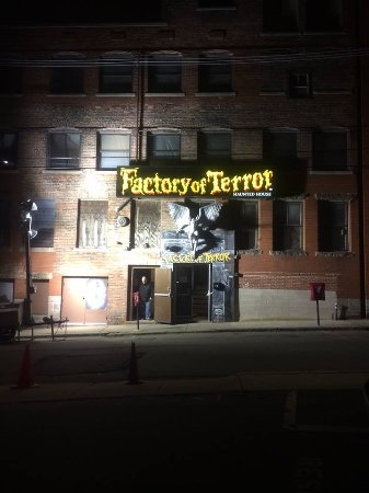Factory Of Terror: Front entrance.....