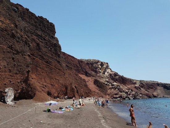 Red beach la miglior spiaggia di santorini
