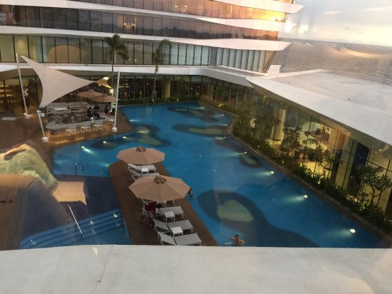 View From The Hotel Room Pool Picture Of Conrad Manila Pasay Tripadvisor