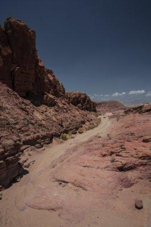 Borrego Springs, Californien: au sud, l'ouverture du canyon laisse découvrir des paysages magnifiques