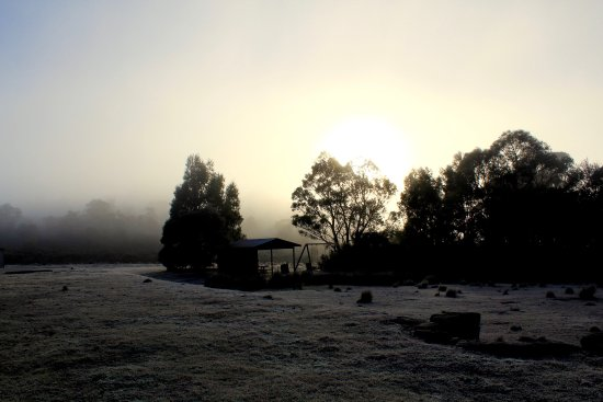Miena, Αυστραλία: Loved waking up to a foggy icy morning