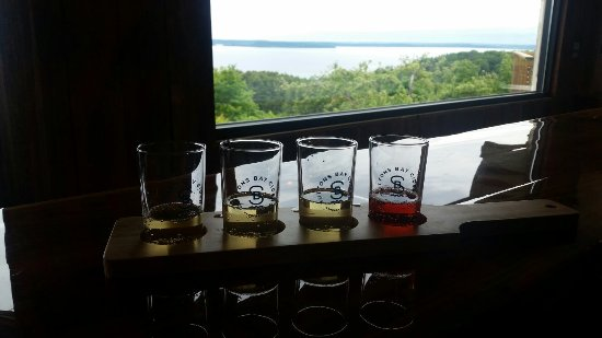 Suttons Bay, MI: Great view with great ciders