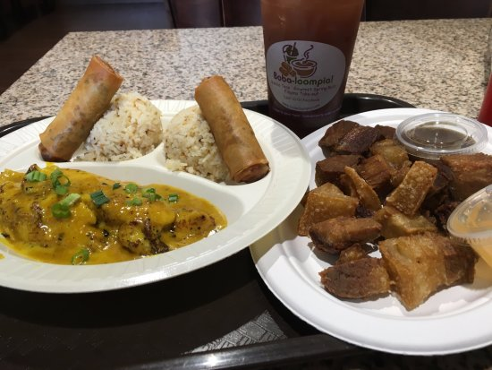 Coconut curried fish with garlic fried rice lumpia for Brownsville fish fry