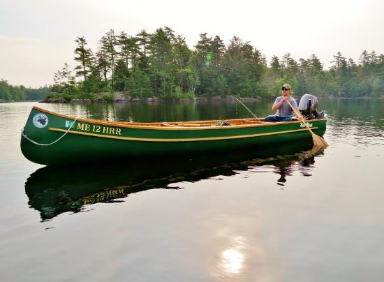 Camden, ME: Cedar and Canvas Canoe