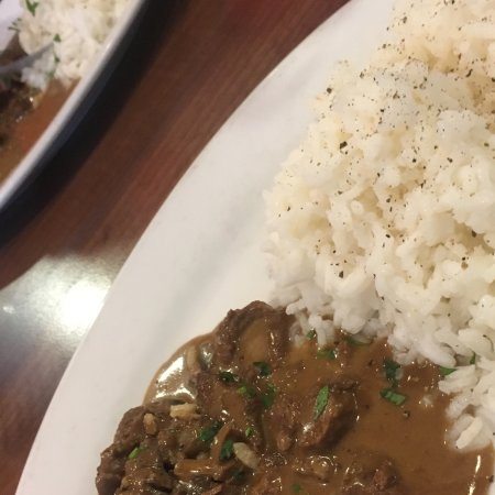 Bolton, UK: Beef stroganoff part of the lunch special for £9.95 with coffee