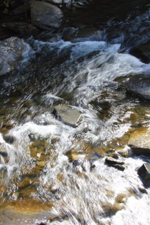 Trumansburg, Νέα Υόρκη: Tumultuous waters around the falls