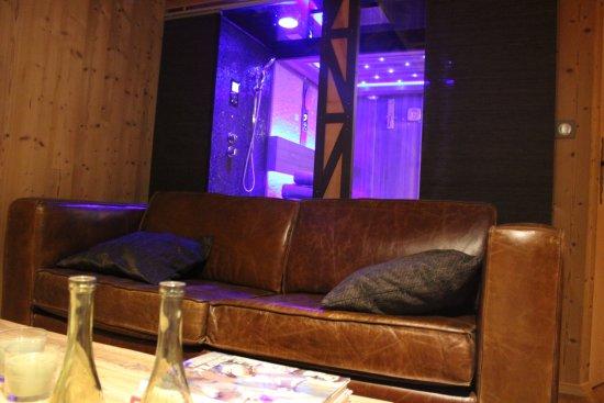Domaine des Grands Cèdres : Salon Hammam sauna