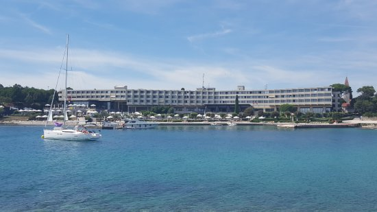 Island Hotel Istra: From the adjoining island , looking towards the pool area