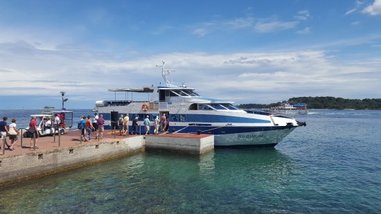 Island Hotel Istra: This is the transport between the mainland and hotel