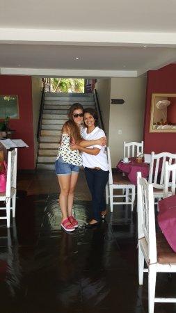 Pousadas Unicornio Buzios: Con Rafaela en el area de desayuno...
