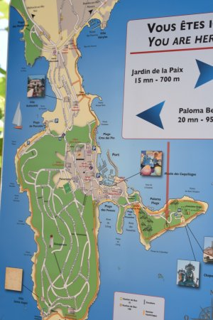 Map of St Jean coastal walking trails - Picture of Saint Jean-Cap ...