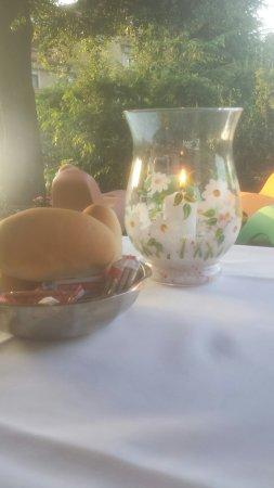 Al Gabbiano Hotel: Cena in giardino!!
