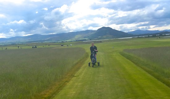 The Carnegie Club at Skibo Castle: Walking from the first tee